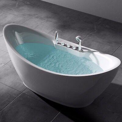 Design Badewanne Freistehende Wanne Standbadewanne Armatur 186 x 80 Vicenza603