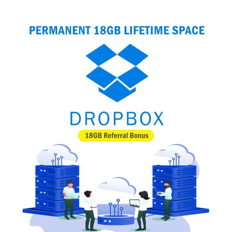 Dropbox 18GB Lifetime Storage Through Referral Within 3-5 Days