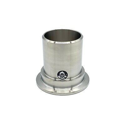 Stainless Steel Kf40 Flange X 1.5 Od Pvc Hose Adapter For Diy Pvc Vacuum Bellow