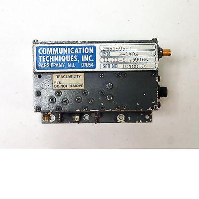 Communications Techniques P-1402 2531395-1 Microwave Oscillator 11.11-11.39ghz