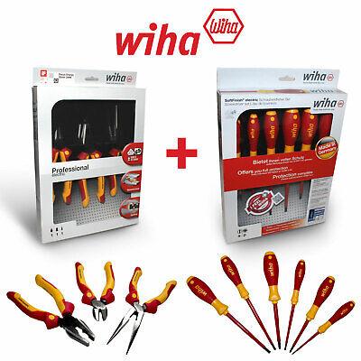 Wiha Electricians Insulated Vde 9 Piece Heavy Duty Screwdriver Plier Set 1000v