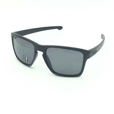 New Oakley Sliver XL OO9341-01 Matte Black Sunglasses W/Grey Polarized Lens 57mm