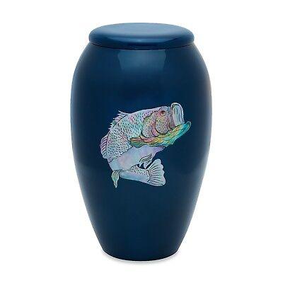 Blue MOP Bass Adult Cremation Urn