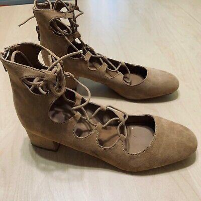 ALDO Women's Beige Strappy Gladiator-style Sandals Shoes Size 10