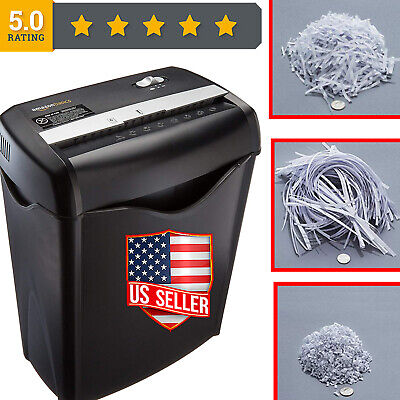 A 6-Sheet Cross-Cut Paper Shredder And Best Credit Card Destroyer Home Office