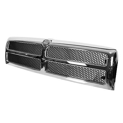 Chrome Grille w/ Insert Assembly Fits 94-02 Dodge Ram Truck 1500 2500 3500 Abs Chrome Grille Insert