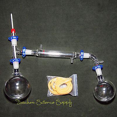 1000ml2440glass Distillation Apparatusnew Lab Vacuum Distill Glassware Kit