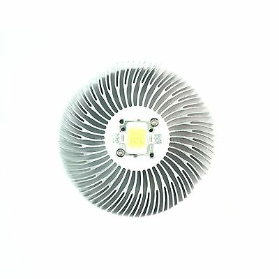 2pcs 90x10mm Round Spiral Aluminum Alloy Heat Sink For 1w-10w Led Silver White
