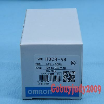 New In Box Omron Timer H3cr-a8 H3cra8 100-240vac 100-125vdc