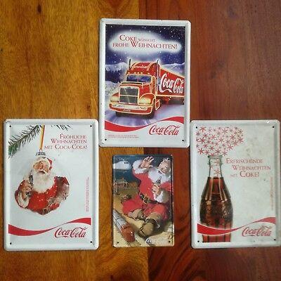Coca Cola Blechschilder Weihnachtschilder