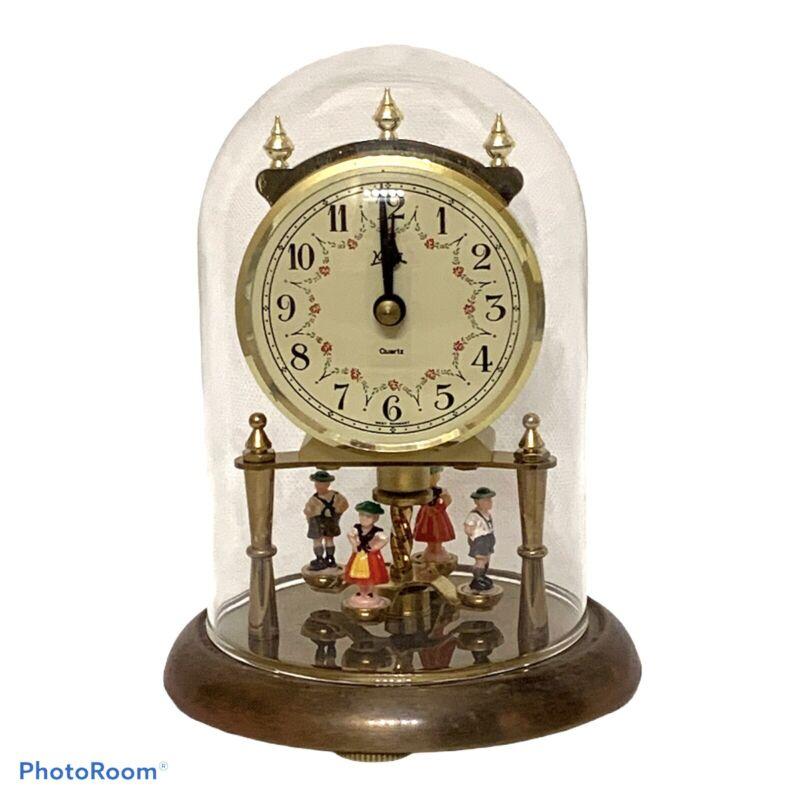 KOMA Miniature Mantel Shelf Anniversary Clock Battery Torsion Pendulum Figurines
