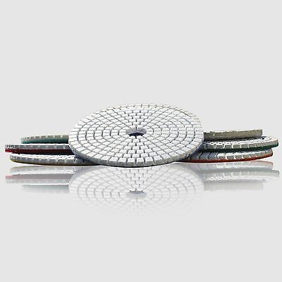 Diamond Polishing Pads 4 inch Wet/Dry 8 Piece Set Granite Stone Concrete Marble