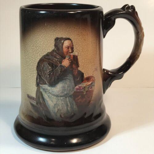 "Antique J&E Mayer Friar Tuck Monk Character Beer Mug Stein 5 1/8 Tall 3.25"" Dia"