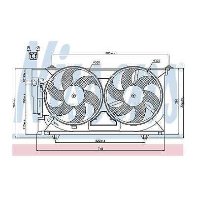 Genuine Nissens Engine Cooling Radiator Fan - 85321
