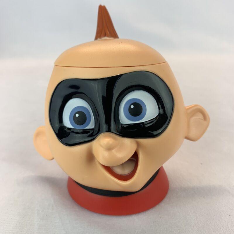 INCREDIBLES DISNEY ON ICE PIXAR BABY JACK 3D HEAD FACE MUG CUP FLIP LID TOP OPEN