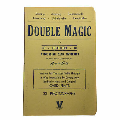 Double Magic or 18-Eighteen-18 Card Mysteries, Burling Hull Lecture Notes 1946