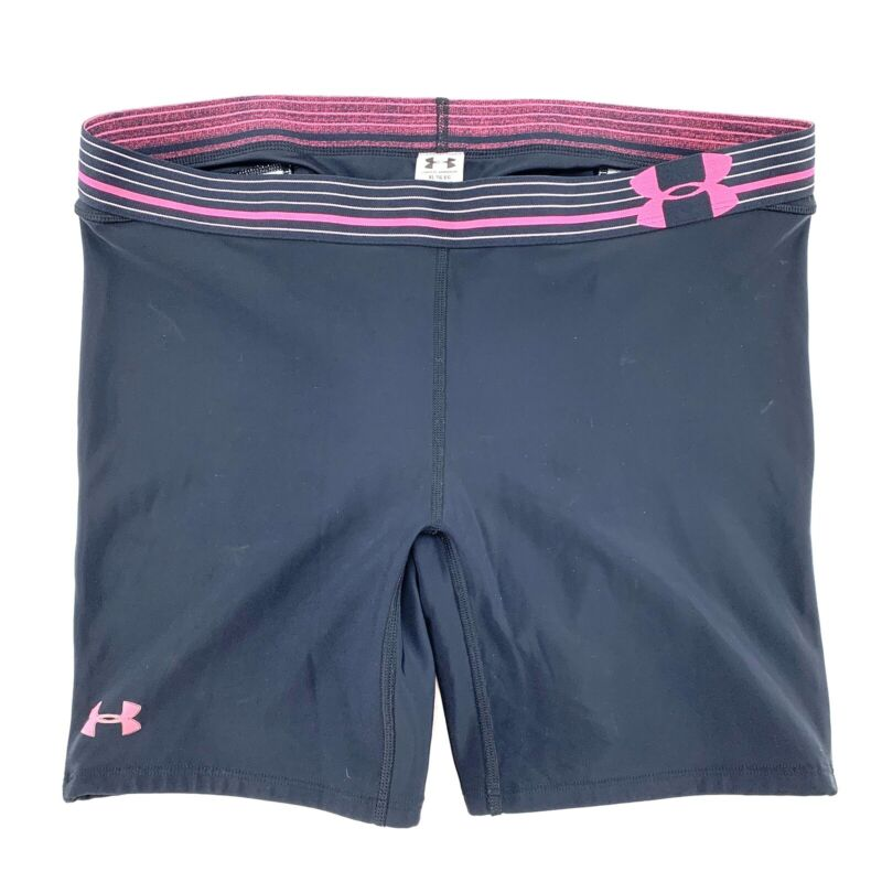 UNDER ARMOUR Womens Size XL Black Padded Slider Shorts