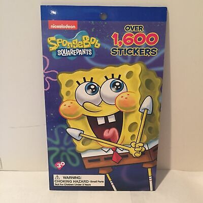- NEW Nickelodeon SpongeBob Squarepants Sticker Book Over 1600 Stickers Kids 3+