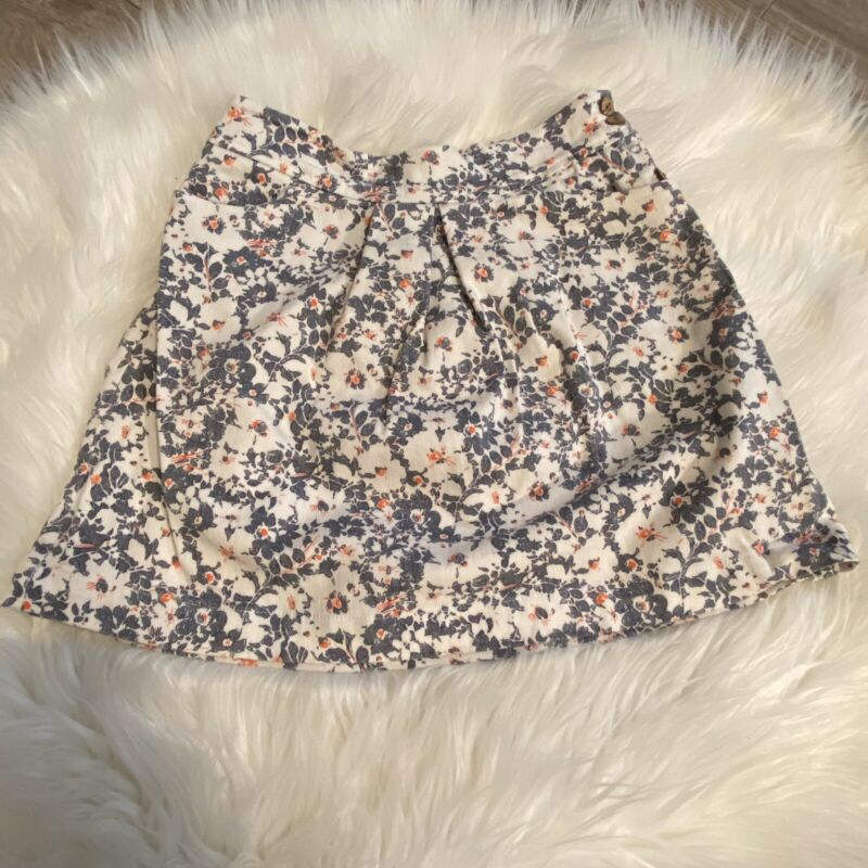 Neige Girls Designer Skirt Floral Size 7 Denim