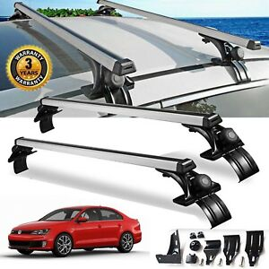 For VW Jetta Sedan Luggage CrossBar Roof Rack Carrier Window Frame+Clamp 48