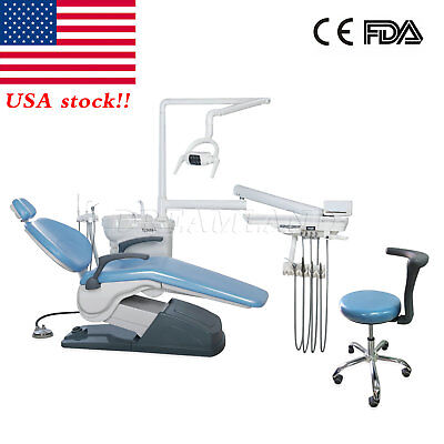 Fda Dental Stool Chair Unit Computer Controlled 110v Hard Leather Sky Blue