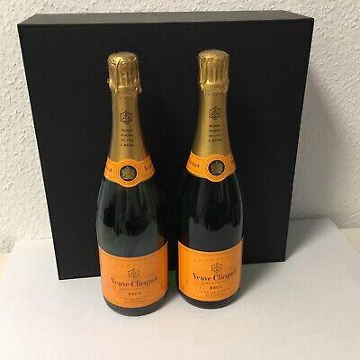 2 Champagner Flaschen Veuve Clicquot Brut 0,75 Liter leer Dekorationsflaschen