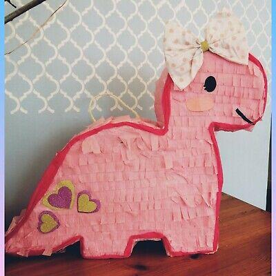Dinosaur piñata birthday party   girl   pop smash game fun pink  (Dinosaur Piñata)
