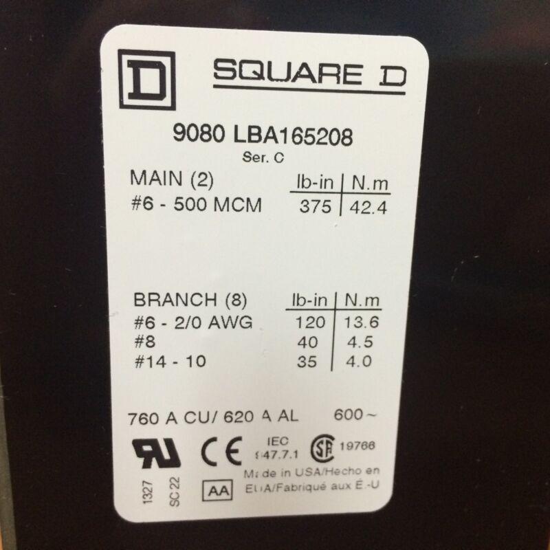 SQUARE D POWER DISTRIBUTION BLOCK 9080LBA165208
