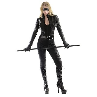 Adult Women's Green Arrow DC Comics Black Canary Halloween Costume Jacket - Black Canary Costume Arrow