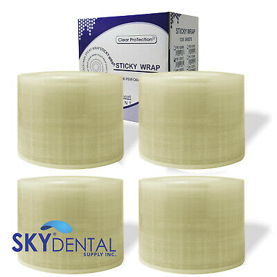 4 Packs 1200 Perforated 4x6 Dental Tattoo Barrier Film Roll Plastic Sheets Clear
