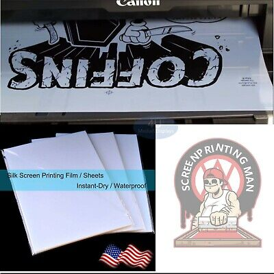 8.5x11silk Screen Printing Waterproof Inkjet Transparent Film Paper 100 Sheets