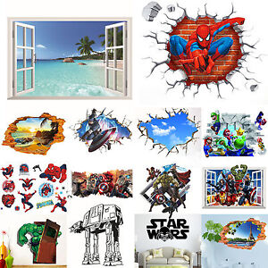 the wars 3d wall stickers wallpaper nursery decor mural decal ebay