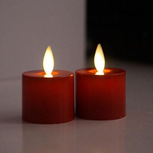 Set of 2 Luminara Flameless Moving Wick Tealight Candles Tea