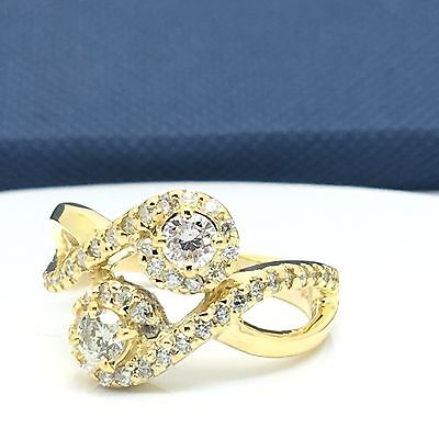 14k Yellow Gold Natural Diamond My Best Friend And Lover Ring April