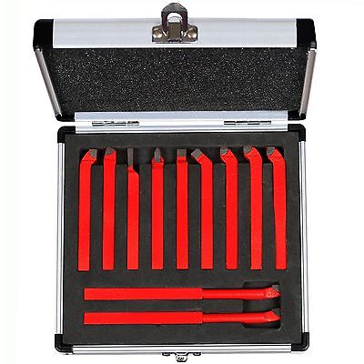 11 Piece Carbide Cutter Bit Tool Set For Metal Lathe