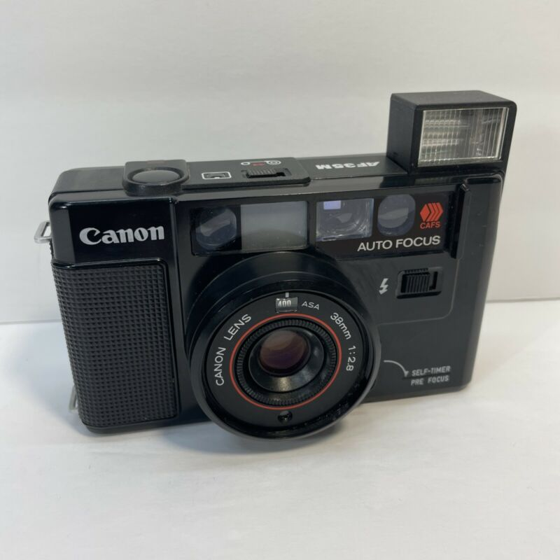 Vintage Canon AF35M Autoboy 35mm Auto Focus Point & Shoot Camera AS-IS   SHPFREE