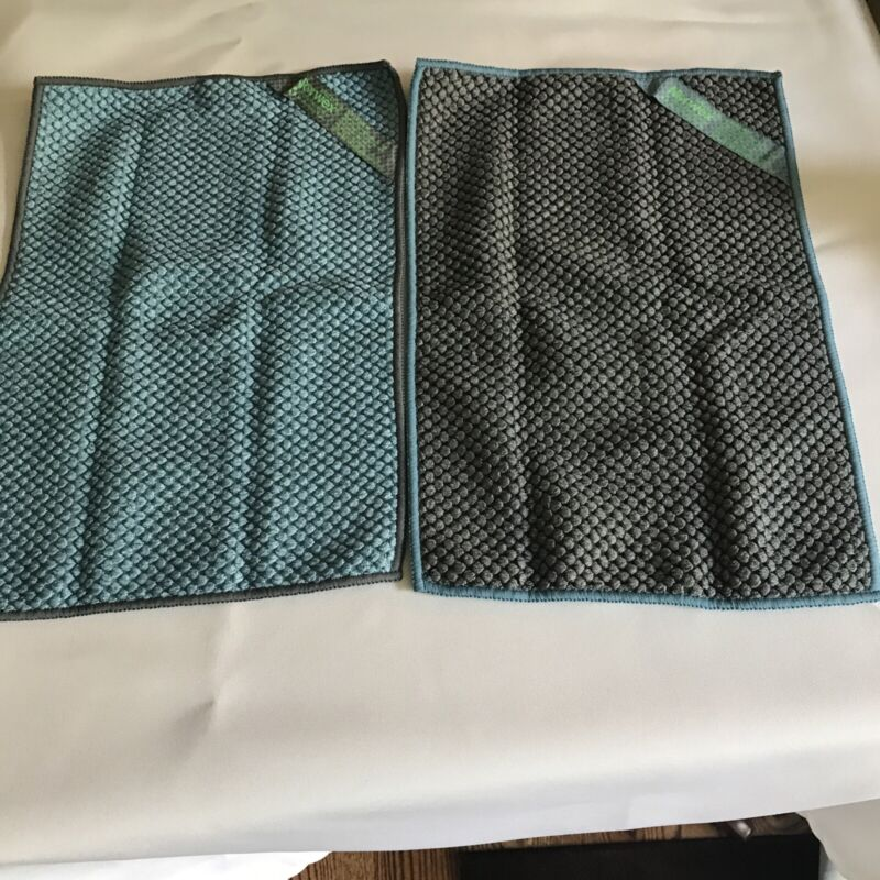 """Norwex counter cloth , large teal , slate set of 2 , 14""""x 9.5"""""""