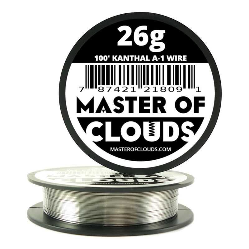 100 ft - 26 Gauge AWG A1 Kanthal Round Wire 0.40mm Resistance A-1 26g GA 100