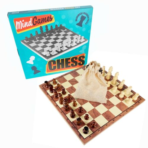 Mind+Games+Hand+Crafted+Wooden+Chess+Set+22cm+x+22cm+%E2%99%9A+Travel+Family+Board+Game