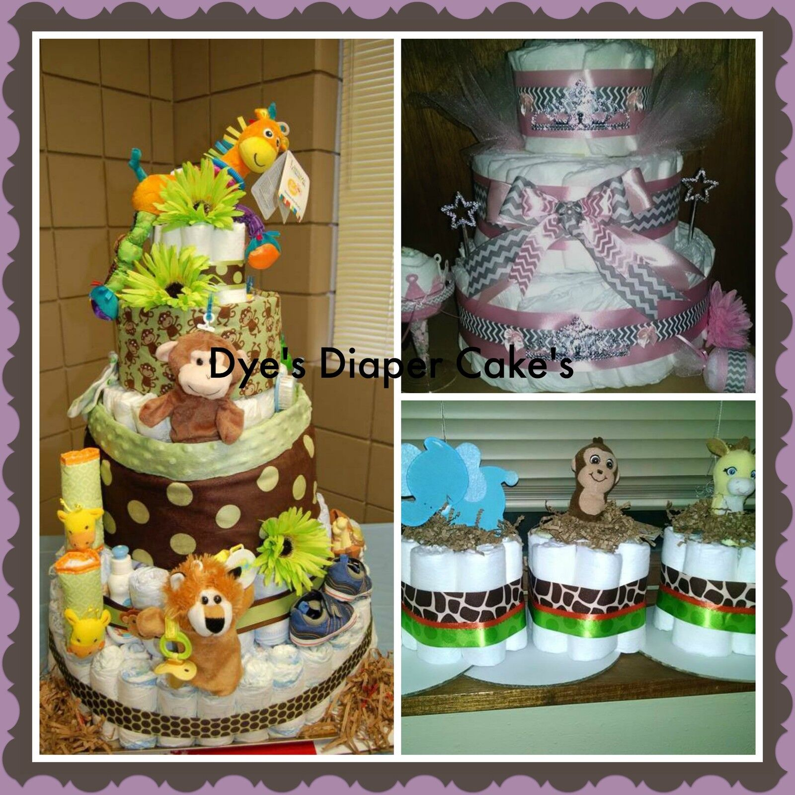 Dyes Diaper Cakes