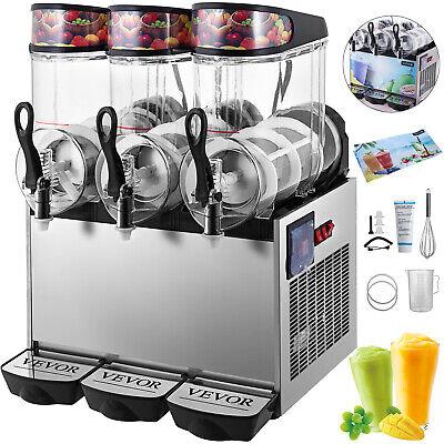 Slush Frozen Drink Machine Commercial Beverage Mixer Triple Tanks Ice Maker