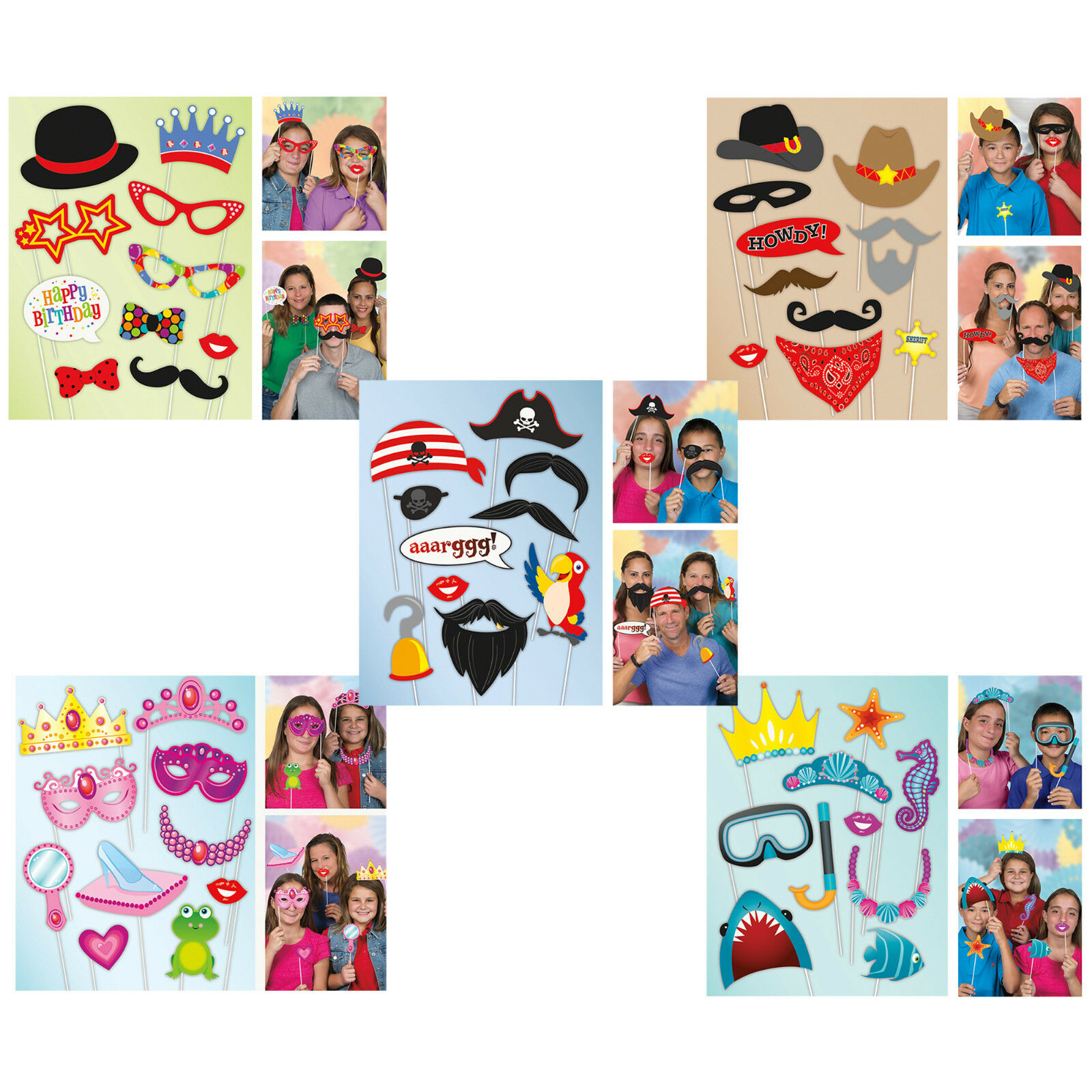 Photo Booth Props Boys Girls Childrens Kids Birthday Party