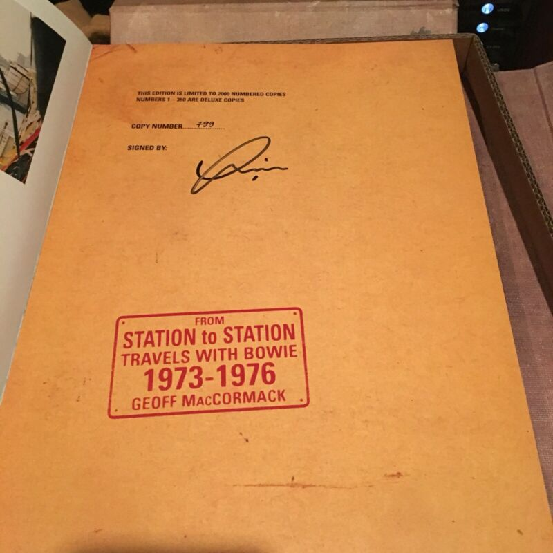 """David Bowie """"From Station to Station"""" Signed Genesis Publications Book"""
