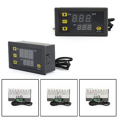 Stc-1000 Digital 12v24v220v Temperature Controller Thermostat Aquarium Sensor.