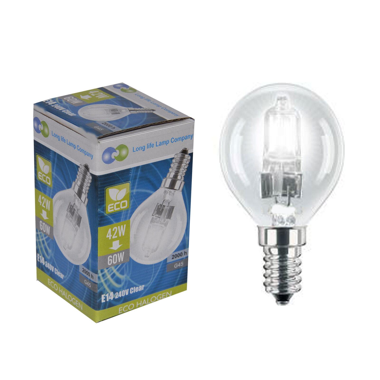 3 Eco Halogen Energy Saving Golf Balls Light Bulb 42w =60w ...