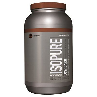 Nature s Best  IsoPure  Low Carb Protein Powder  Dutch Chocolate  3 lb  1361