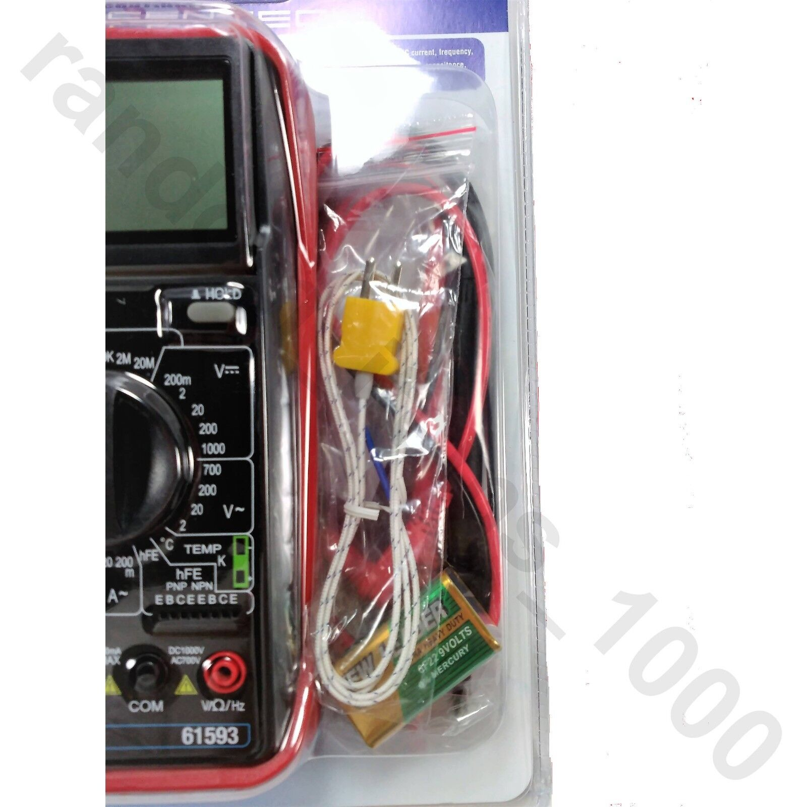 11 Function Digital Multimeter With Audible Continuity
