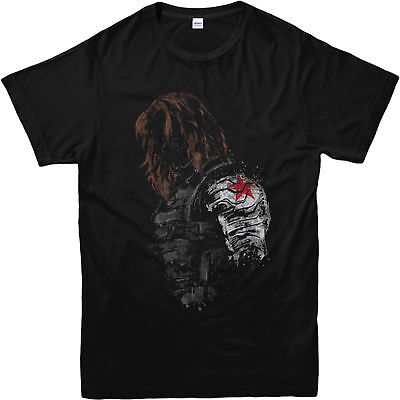 Winter Soldier T-Shirt Captain America Festive Gift Unisex Adult & Kids Tee Top