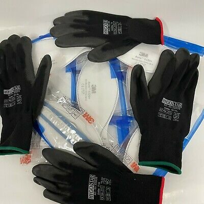 10x 3M Aura 9320+ FFP2 Atemschutzmaske ohne Ventil + 2 Paar PSA Handschuhe