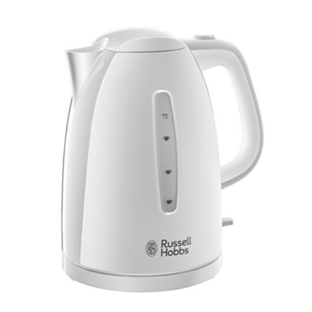 Russell Hobbs 21271 Textures Rapid/Fast Boil Kettle, 1.7L, 3000W White NEW